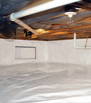 A complete crawl space repair system in Alexander