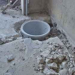 Placing a sump pit in a Scott home