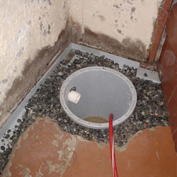 Installing a sump in a sump pump liner in a Benton home