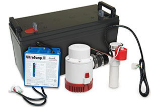 a battery backup sump pump system in Bigelow