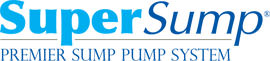 Logo for our SuperSump® Pump System, available in Sherwood and other parts of Arkansas