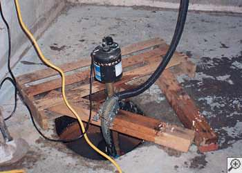 A Traskwood sump pump system that failed and lead to a basement flood.