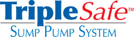 Sump pump system logo for our TripleSafe™, available in areas like Benton