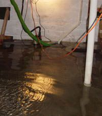 Several feet of floodwaters in a Jacksonville basement