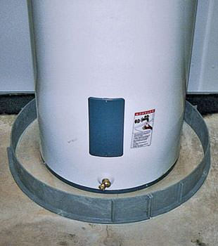 An old water heater in Adona, AR with flood protection installed