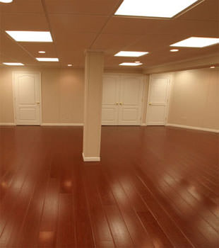 Rosewood faux wood basement flooring for finished basements in Little Rock